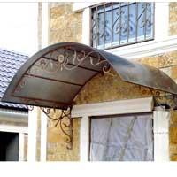 Козырек для балкона с ковкой, арт. КО-37