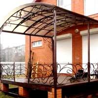 Козырек кованый для балкона, арт.: КО-45