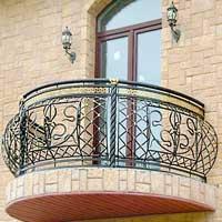 Кованые балконы и ограждения балконов - цена с монтажом и до.