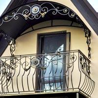 Кованый навес для балкона, арт. КБ-12