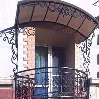 Кованый навес - крыша для балкона, арт.: КБ-13