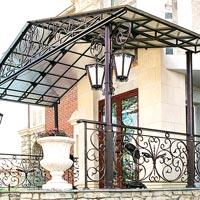 Кованый навес над балконом, арт.: КБ-15