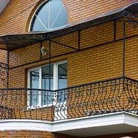 Кованый навес, козырек над балконом, арт.: КБ-16