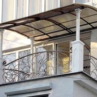 Навес с ковкой над балконом, арт.: КБ-18