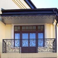 Кованый навес над балконом, арт.: КБ-02